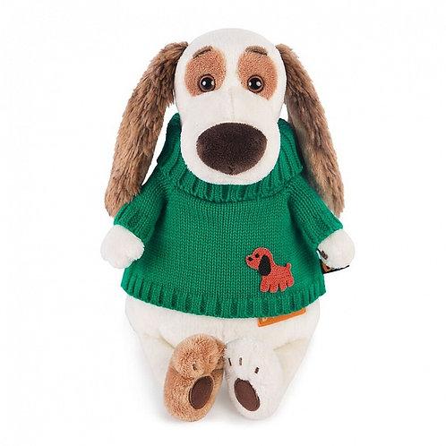 BUDI BASA  Bartholomew  緑のセーターwith 子犬のワッペン ビーグル