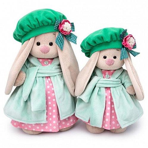 BUDI BASA  うさぎのMI  グリーンとピンクのドット柄ドレス