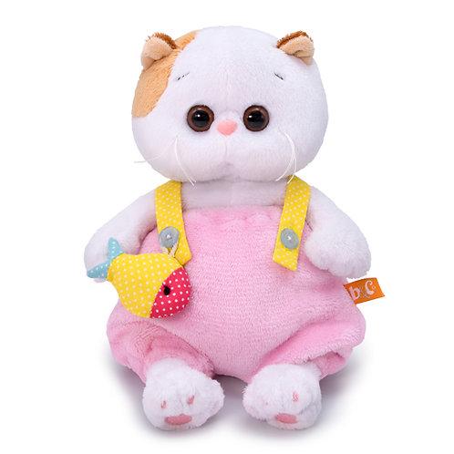 BUDI BASA  Li-li baby ピンクのもこもこオーバーオール エキゾチックショートヘア