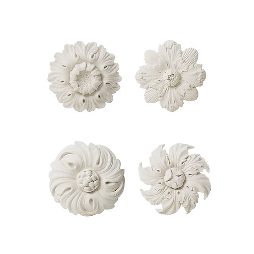 Resin Flower Wall Plaque 4 Styles