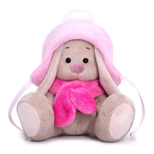 BUDI BASA   MI  baby    ピンクのもふもふ帽&マフラー