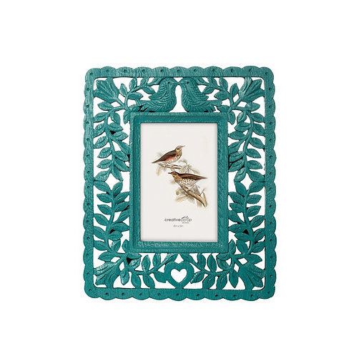 "4""x 6"" Resin Photo Frame Peacock Blue"