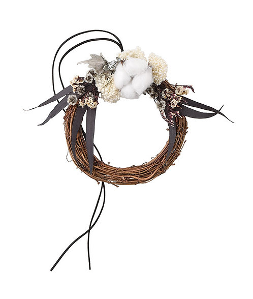 "【SOMU】wreath  ""マニッシュ"" プリザーブド・ドライフラワー リース"