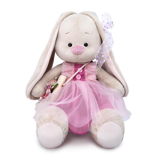 BUDI BASA  うさぎのMI  ピンクのレースドレスwithお花のバスケット(大)