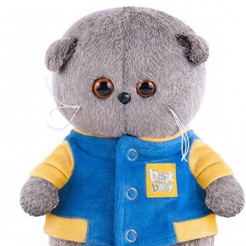 BUDI BASA Basik Baby    青と黄色のジャケット スコティッシュフォールド