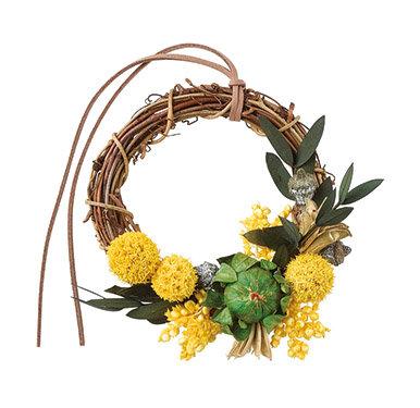 """【SOMU】wreath  """"ヒカリ"""" プリザーブド・ドライフラワー リース"""