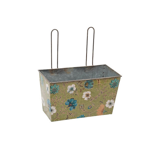 Tin Planter Green