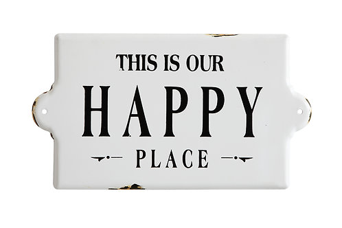 "Enameled Wall Decor "" Happy Place """
