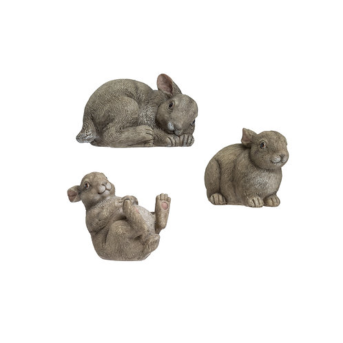 Resin Rabbit Figurine 3 Styles