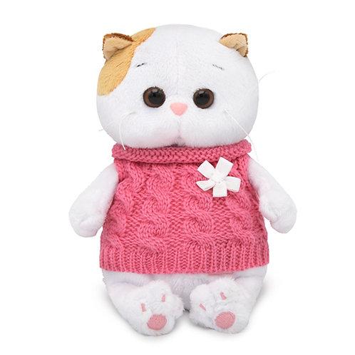BUDI BASA Li-li baby 白いお花のピンクセーター エキゾチックショートヘア