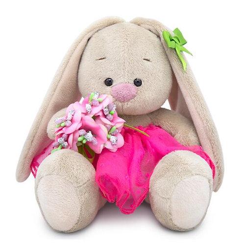 BUDI BASA   MI  baby   ピンクのチュールスカートwith花束