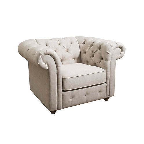 Fort Tufted Upholstery Chesterfield Chair KD
