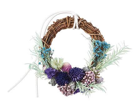 "【SOMU】wreath  ""サファイア"" プリザーブド・ドライフラワー リース"