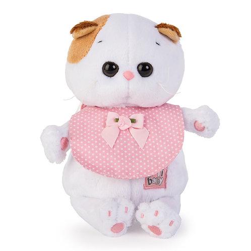 BUDI BASA Li-li baby ピンクのよだれかけ エキゾチックショートヘア