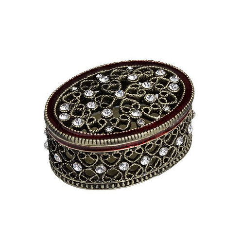 Metal Oval Jewelry Box