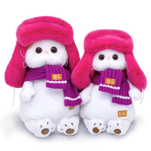BUDI BASA  Li-li ピンクのもふもふロシア帽 エキゾチックショートヘア