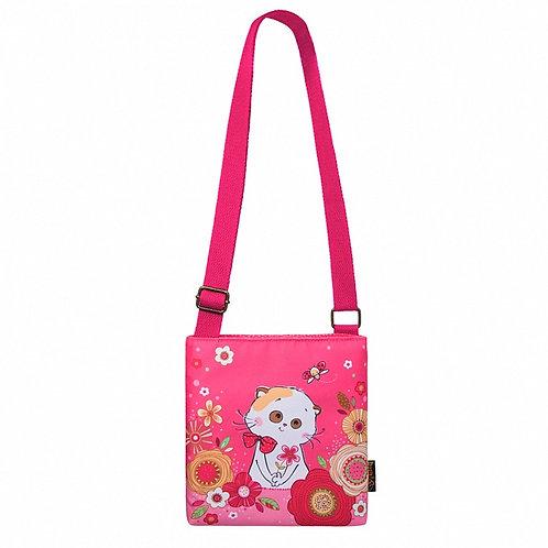BUDI BASA ピンクの花柄ショルダーバック Li-li リリ