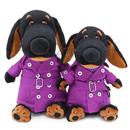 BUDI BASA Vakson  紫のコート ダックスフンド