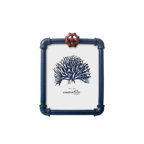 """8"""" x 10"""" Resin Photo Frame w/ Faucet Blue & Red"""