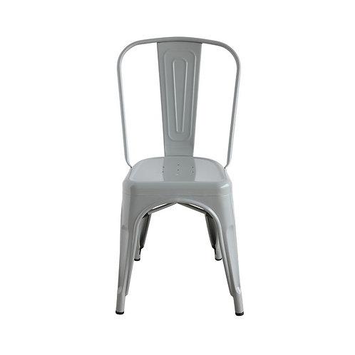 Metal Dining Chair, Grey