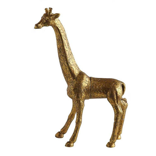 Resin Giraffe Jewelry Holder w/ Magnet Gold Finish