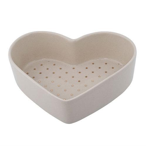 Stoneware Dish heart