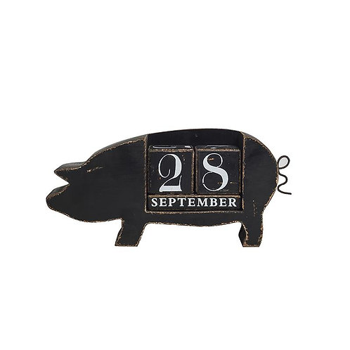 MDF Pig Perpetual Calendar