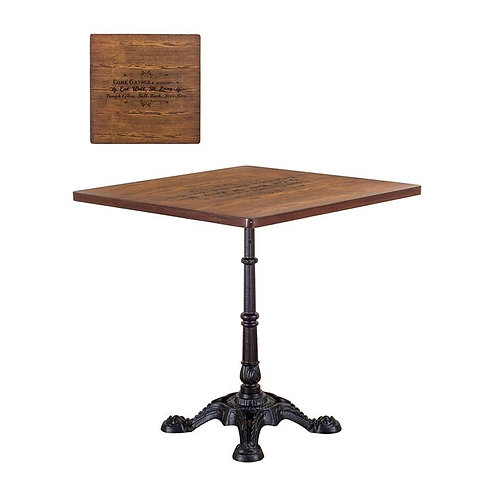Timber Caf Table w/ Retro Printing KD