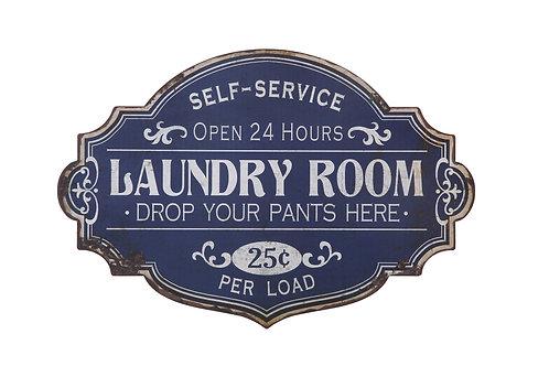 "Metal Wall Dcor ""Laundry Room"""