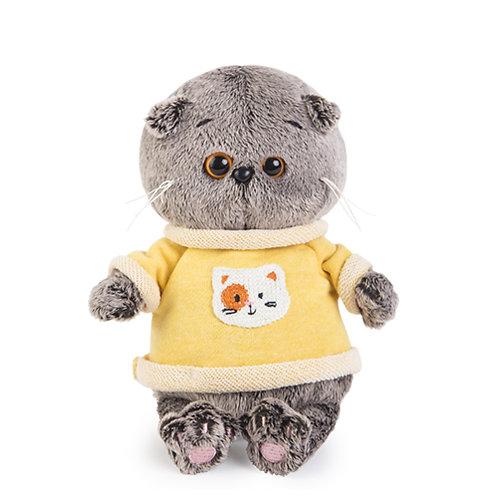 BUDI BASA Basik Baby  黄色のスウェットwith猫ワッペン スコティッシュフォールド