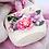 Thumbnail: BUDI BASA  うさぎのMI  ピンクのレースドレスwithお花のバスケット(大)