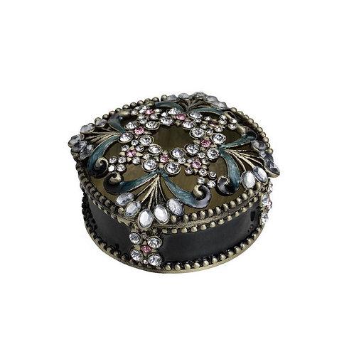 Metal Round Jewelry Box