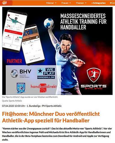 Handballworld 07.04.20 - Vorstellung Spo