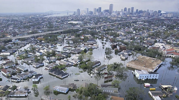 Flooding caused by Hurricane Katrina in the New Orleans 2005