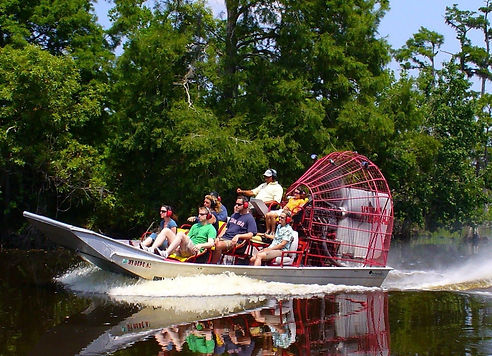 Swamp Tours by Air Boat, Crown Point. Just outside New Orleans, LA