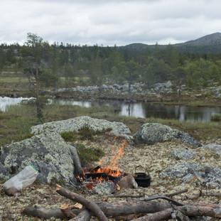 Vi var begge enige om at campen vi etablerte på denne moreneryggen, var den beste på hele turen. Nydelig utsikt.