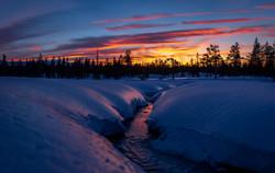 Vintersolnedgang