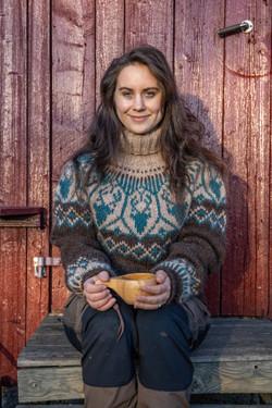 Portrett Linka Neumann.Villmarksgensere.