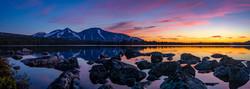 Sommernatt i sørenden av Sølensjøen