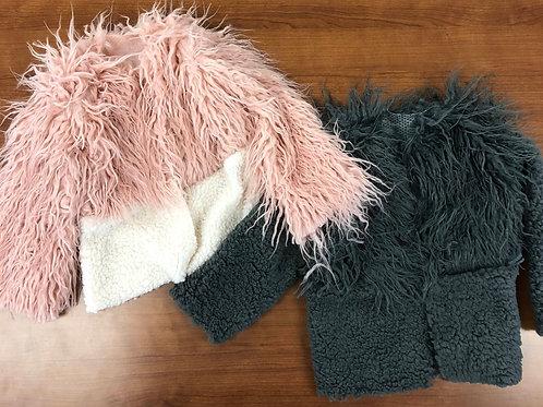 Mini Shag Fur Bomber Jackets