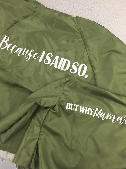 Single Sided Custom Bomber Jacket