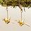 Thumbnail: Gold Tsuru Earrings