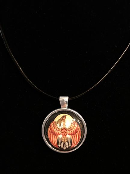 Celestial Phoenix Single Pendant
