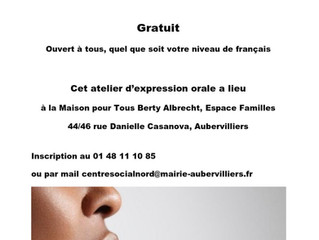 Atelier expression orale