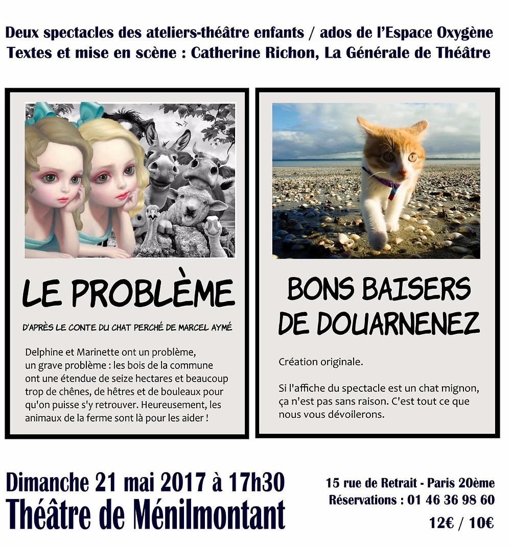 Le problème / Bons baisers de Douarnenez, texte et mise en scène Catherine Richon