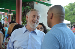 Colin with supporter at an event