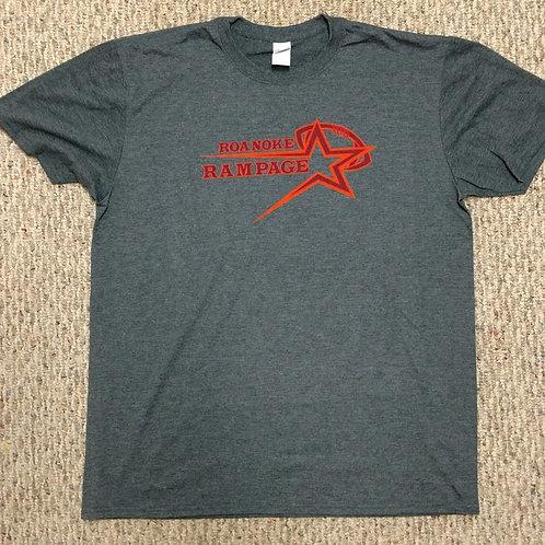 Adult Roanoke Rampage Dark Grey T-Shirt