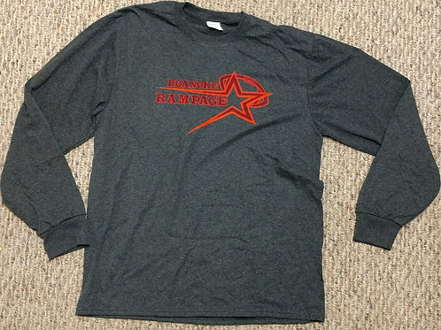 Adult Roanoke Rampage Dark Grey Long Sleeve T-Shirt