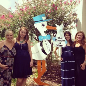 stork sign, family, baby shower