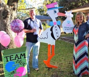 stork sign, family, gender reveal